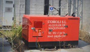 Alquiler de generadores de energía en Málaga